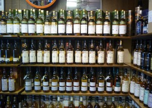 A sample of the varied bottlings to be found here.