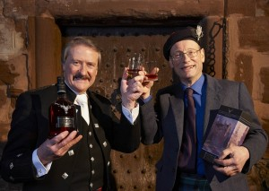 Richard Paterson (L) with John Cromartie Caberfeidh with The Dalmore Castle Leod.