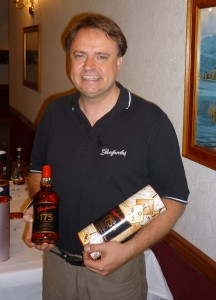 Peter Donnelly with the 175th Anniversary bottling.