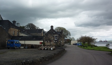 The Dalmore distillery, on the shores of the Cromarthy Firth.